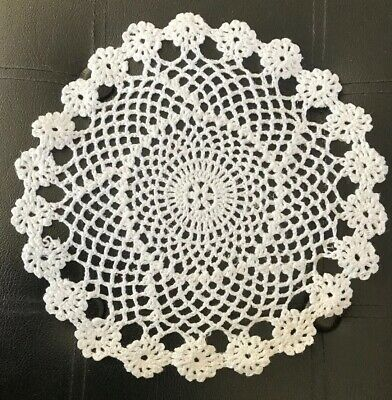 DOILIES Handmade Crochet Lace Doily Coaster Decoration WHITE 10""