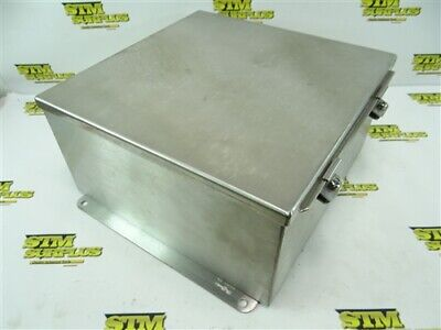 "New Hoffman Stainless Steel Enclosure Hinged Lid 6"" X 12"" X 12"" A1212Chnfss"