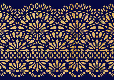 Border STENCIL Lace Reusable Vintage Wedding Cake Furniture Painting Wall LA51