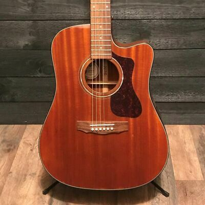 Guild D-120CE Solid African Mahogany Acoustic Electric Guitar Cutaway Natural w/