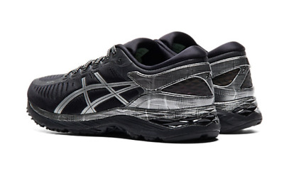 GENUINE ASICS METARUN Men's Running Shoes Sneakers BLACK/SILVER LIMITED EDITION