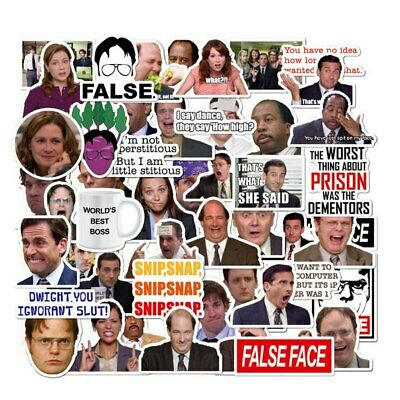 THE OFFICE DUNDER MIFFLIN 10 DIFFERENT Vinyl Stickers Randomly Selected