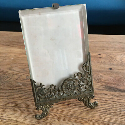 Antique Frame Door Photo Glass Bevelled Copper Xixè - Antique French Frame 19thC
