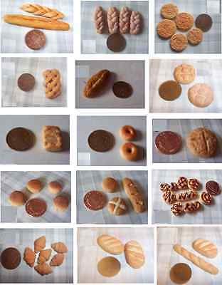 Miniature food  BREAD BAKERY   dollhouse doll 6TH SCALE POLYMER CLAY