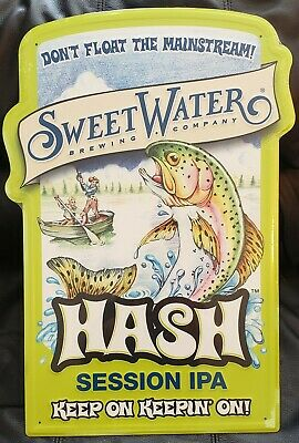 Sweetwater Brewing Company Hash Session IPA Metal Beer Tacker Craft Brewery New!