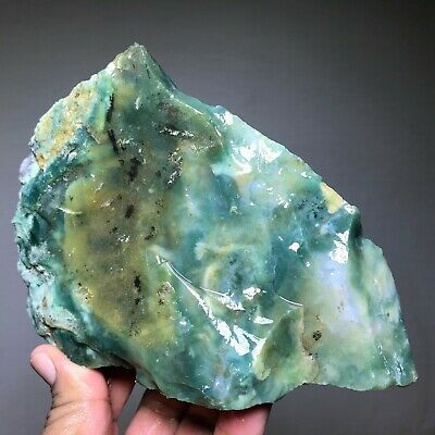 Top Quality Gem Green Moss Agate Rough - 3.5 Lbs - From India