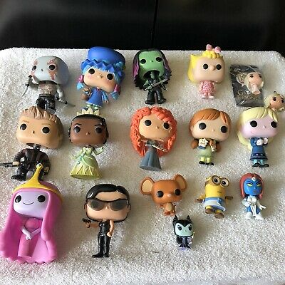 Funko Pop Lot Of 12 Pops and 5 Mini pops OOB LOOSE and USED