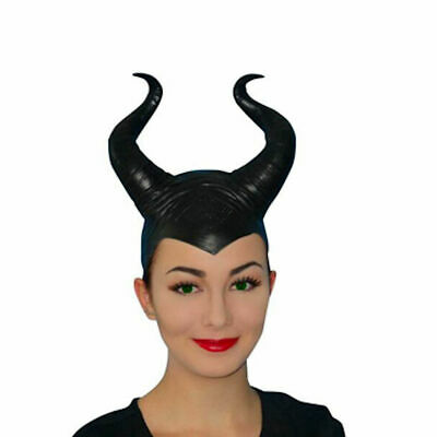 Maleficent Black Horns Deluxe Headpiece 18cm High Latex Fairy Costume Accessory