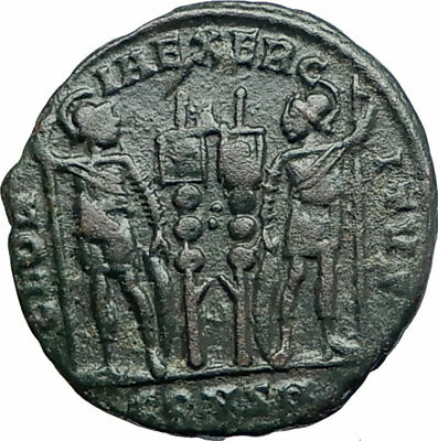 CONSTANTINE I the GREAT 330AD Authentic Ancient Roman Coin LEGION Soldier i80562