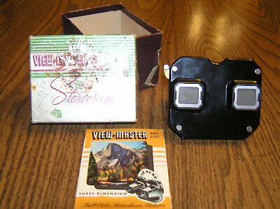 Vintage Sawyer 3D Stereoscope Viewmaster In Original Box Made In USA
