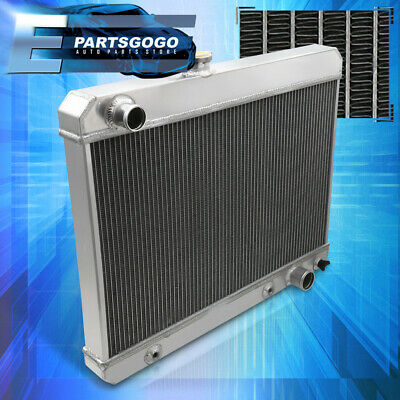 For 65-67 Pontiac GTO/Tempest/Lemans V8 Aluminum 3-Row Tri-Core Cooling Radiator