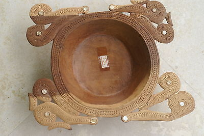 Melanesia Massim Trobriand Rare Oceanic Art Lacy Carving Bowl Mother pearl 2A10