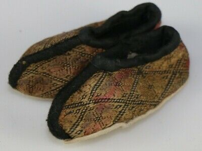 Tribal Chinese Minority people's old hand embroidery baby shoe ornament