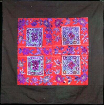 Old tribal exotic chinese ethnic minority people's hand embroidery