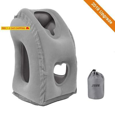 Jysw Inflatable Travel Pillow, Portable Airplane Pillow Multifunctional Neck And