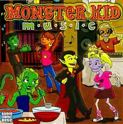 Monster Kid Music Cd - 45 Minutes Of Rockin' Childrens Halloween Party - Rare