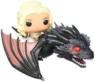 Exclusive Pop Rides Game Of Thrones Daenerys & Drogon Funko Figures Toy Statue