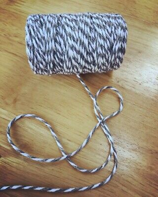 10  Metres Bakers Twine Choose Red/Green/Grey - String, Christmas Craft