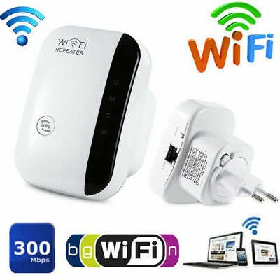300Mbps 802.11 Wifi Repeater Wireless-N AP Range Signal Extender Booster 4 Plug