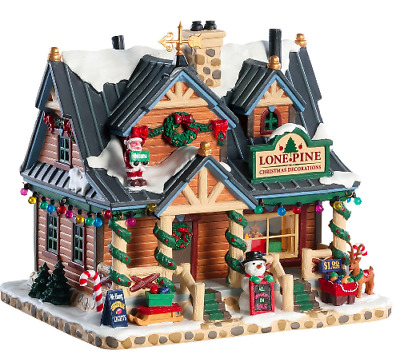 Lemax Lone Pine Christmas Decorations #85323 Lighted Building Vail Village Xmas