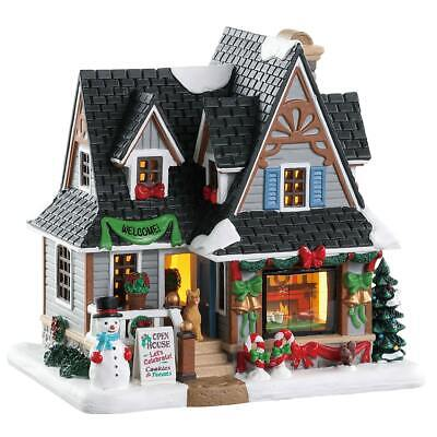 Lemax Christmas Village Holiday Open House #85352 Lighted Building Home Decor