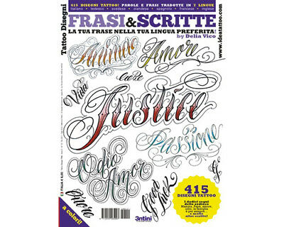 Lettrage & Script Tatouage Flash Motif Livre 66-Pages Cursif Écriture Art Supply