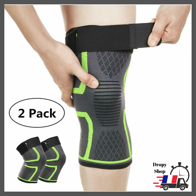 Genouill/ère Rotulienne Pour Sport Marche Arthrose Articul/é Tendinite Neoprene Attelle Genou Compression Crossfit Basketball Volley Paire