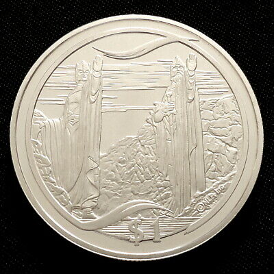 2003 New Zealand Silver Proof $1 Lord of the Rings The Great River + COA