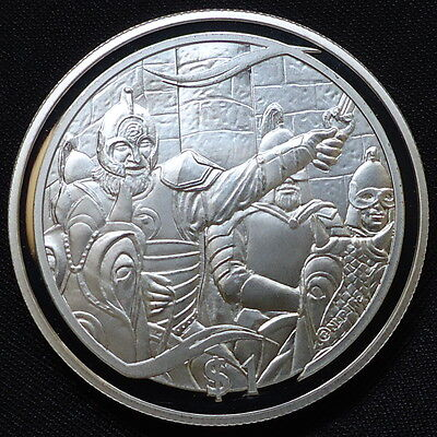 2003 New Zealand Silver Proof $1 Lord of the Rings Theoden Rides Out