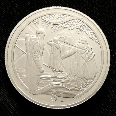 2003 New Zealand Silver Proof $1 Lord of the Rings Gandalf Reappears + COA