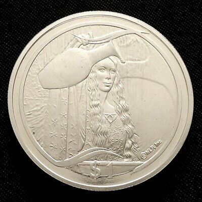 2003 New Zealand Silver Proof $1 Lord of the Rings The Mirror of Galadriel + COA