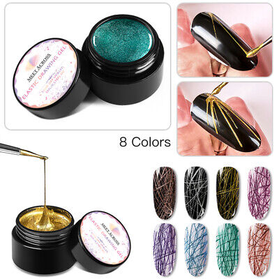 MEET ACROSS 5ml Spider Gel Nails Polish Elastic Painting Line UV Gel Manicure