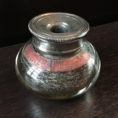 Antique Inkwell Reversible Guerin - Reversal Inkwell