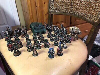 Warhammer 40k Space Marine Dark Angels Army Lot Pro Painted Sb69