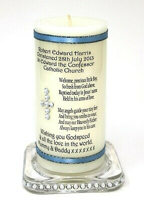 Xmas Photo Christmas Candle personalised Gift own message Cellini #8