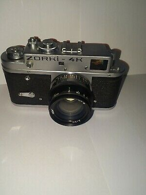 Zorki 4 Vintage camera and Jupiter 8 2/50 lens and case