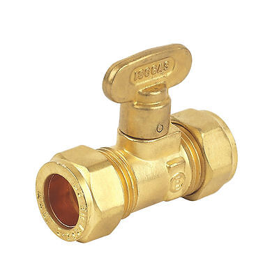 Isolation Valve Gas Cock Stop Tap Compression Fitting