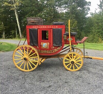 Concord Stagecoach Horse Drawn Carriage Mid 1800's