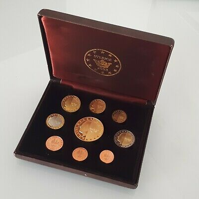 Sweden Euro test set coins 2003 ( complete ) Proof ( with certificate )