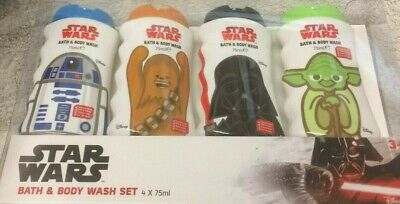 Star Wars Bath and Body Wash Set 4 x 75ml in presentation box