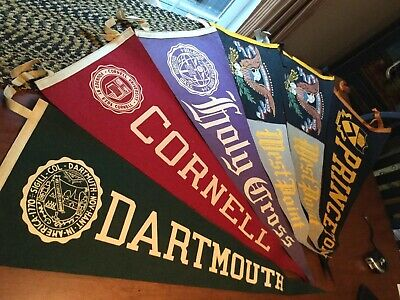 "Vintage West Point College 30"" Black Felt Pennant 1950's Nice Looking"