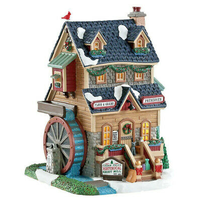 Lemax Christmas Village Cedar Falls Grist Mill #85390 Lighted Building Ornament