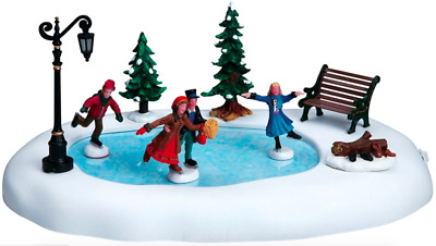 Lemax Christmas Village Winter Skating Animated Table Accent #94024 Ornament