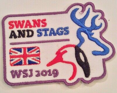 Unit 51, Swans and Stags UK Badge 2019 24th World Boy Scout Jamboree MINT