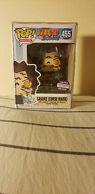 Funko POP Naruto Shippuden Sasuke (Curse Mark) #455 Convention Exclusive w/ Case