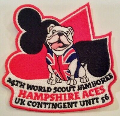 Unit 56, the Hampshire Aces UK Badge 2019 24th World Boy Scout Jamboree MINT