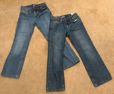 Two Pairs Of Boys Jeans-Size 7 Old Navy Regular Fit