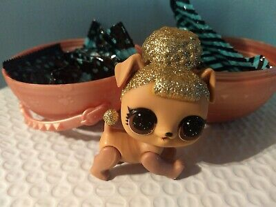 LOL Surprise Pets Series 3 Wave 2 Pup Bee dog glitter Gold New RARE HTF!