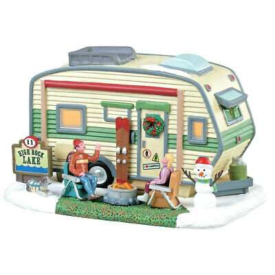 Lemax Christmas High Rock Lake Trailer #85322 Table Accent Caravan Ornament Xmas