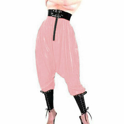 New Latex Pants Trouser 100% Rubber Gummi Pink with Black  Hip Man 0.4mm S-XXL